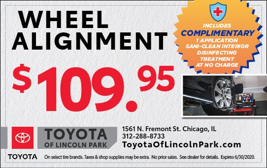 Wheel Alignment for $109.95