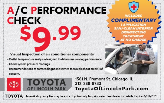 $9.99 A/C Performance Check