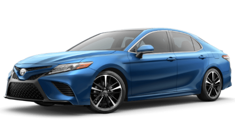 2020 Toyota Camry XSE V6 in Blue Streak Metallic