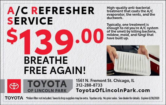 $139.00 A/C Refresher Service