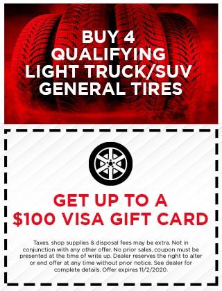 Get up to $100 Visa Gift Card