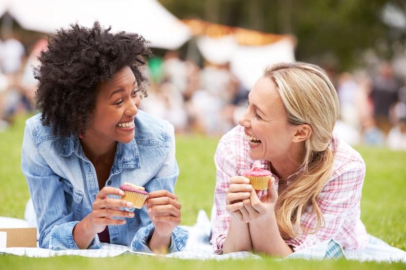 female friends at festival