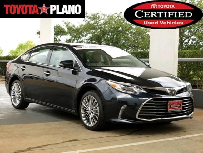 Certified 2018 Toyota Avalon Limited Sedan near Dallas, TX