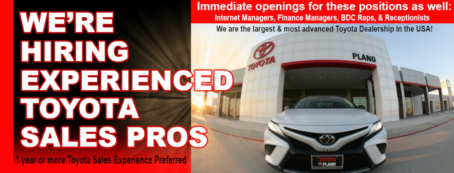 Toyota Dealerships Dfw >> Toyota Of Plano Toyota Dealership Near Dallas Tx