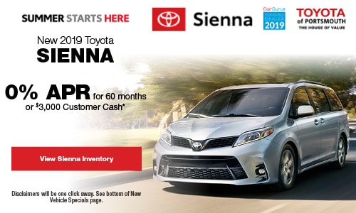 May New 2019 Toyota Sienna Offer at Toyota of Portsmouth