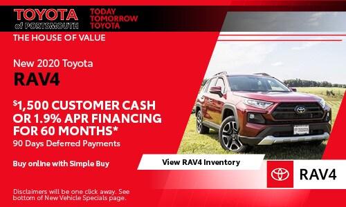 June New Toyota RAV4 Offer