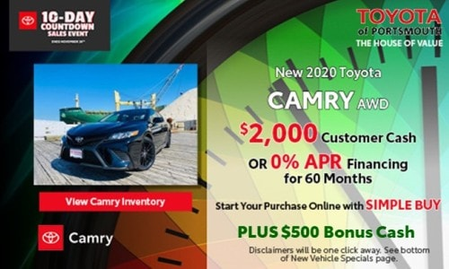 Ten Day Sales Event New Toyota Camry Offer