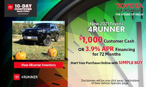 Ten Day Sales Event New Toyota 4Runner Offer