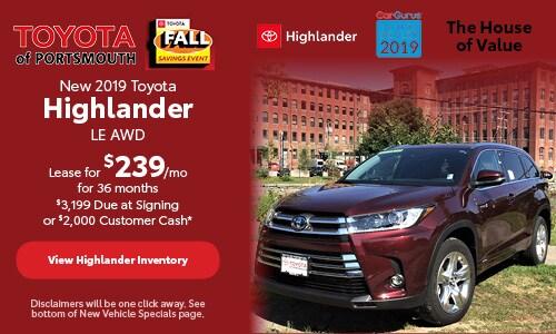 October New 2019 Toyota Highlander Offer