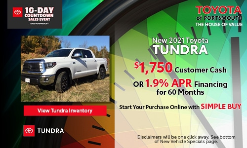 Ten Day Sales Event New Toyota Tundra Offer