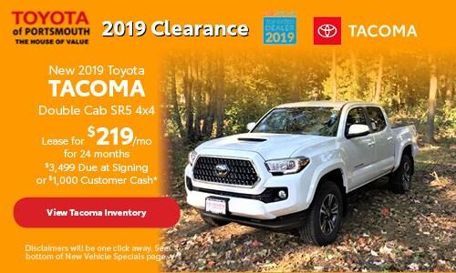 November New 2019 Toyota Tacoma Offer