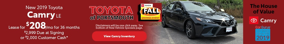 October New 2019 Toyota Camry Offer