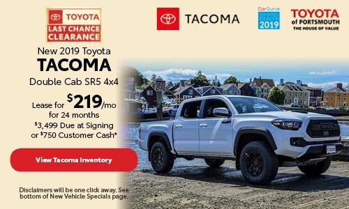 September New 2019 Toyota Tacoma Double Cab SR5 4x4