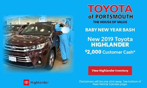 January New Toyota Highlander Offer