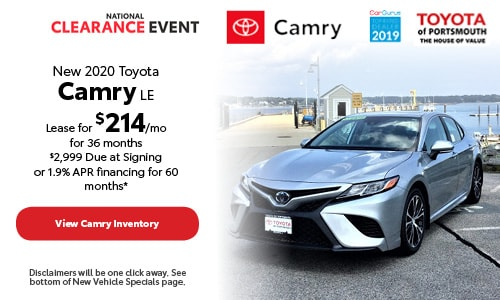 August New 2020 Toyota Camry Offer