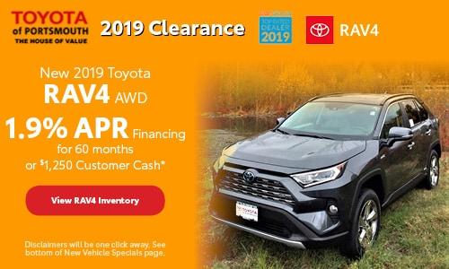 November New 2019 Toyota RAV4 Offer