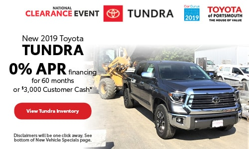 August New 2019 Toyota Tundra Offer