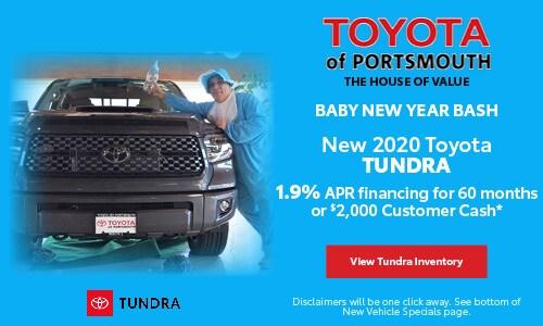 January New Toyota Tundra Offer
