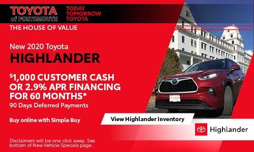 June New Toyota Highlander Offer