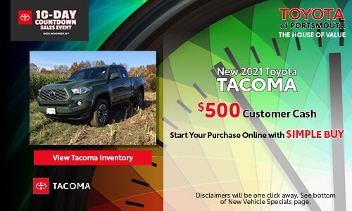 Ten Day Sales Event New Toyota Tacoma Offer