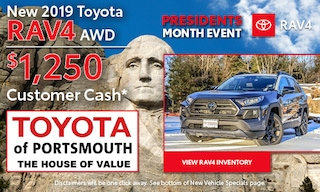 Presidents Month RAV4 Offer
