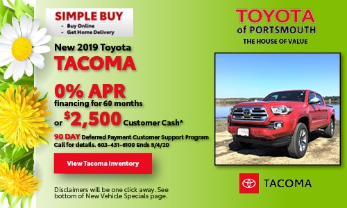 April New Toyota Tacoma Offer