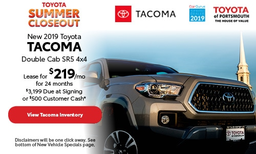 July New 2019 Toyota Tacoma Offer at Toyota of Portsmouth