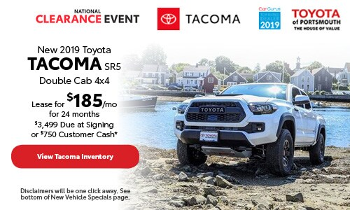 August New 2019 Toyota Tacoma Offer