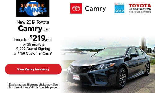 June New 2019 Toyota Camry Offer at Toyota of Portsmouth