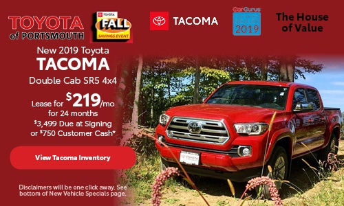 October New 2019 Toyota Tacoma Offer