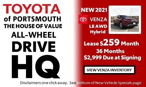 January AWD HQ Toyota Venza Offer