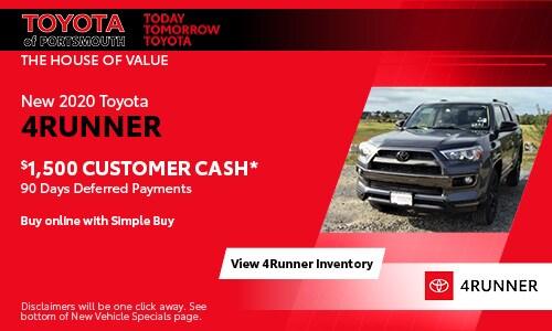 June New Toyota 4Runner Offer
