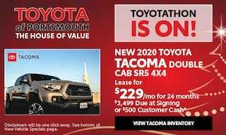 December New Toyota Tacoma Offer