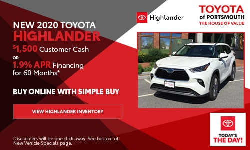 September New Toyota Highlander Offer