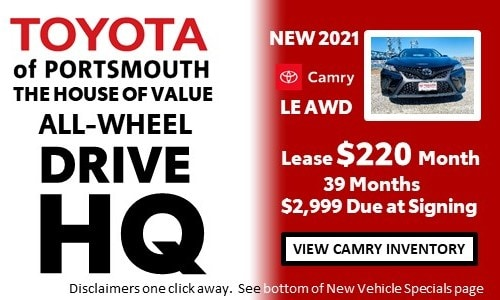 January AWD HQ Toyota Camry Offer