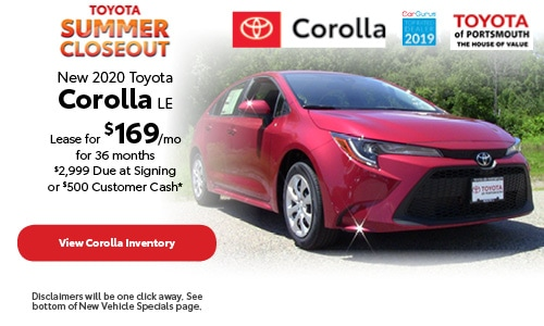 July New 2020 Toyota Corolla Offer at Toyota of Portsmouth