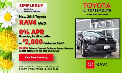 April New Toyota RAV4 Offer