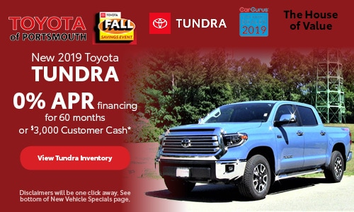October New 2019 Toyota Tundra Offer