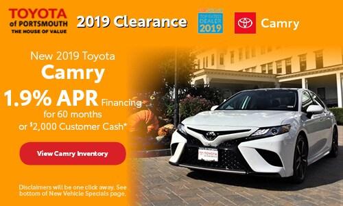 November New 2019 Toyota Camry Offer