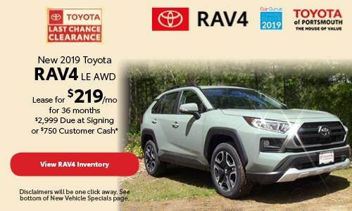 September New 2019 Toyota RAV4 LE AWD