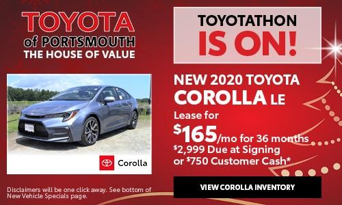 December New Toyota Corolla Offer