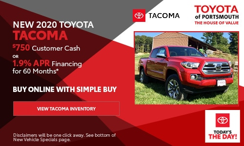 September New Toyota Tacoma Offer
