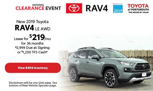 August New 2019 Toyota RAV4 Offer