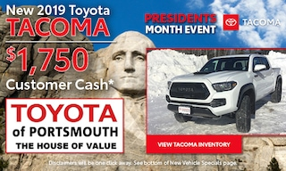 Presidents Month Tacoma Offer