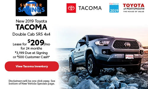 June New 2019 Toyota Tacoma Offer at Toyota of Portsmouth