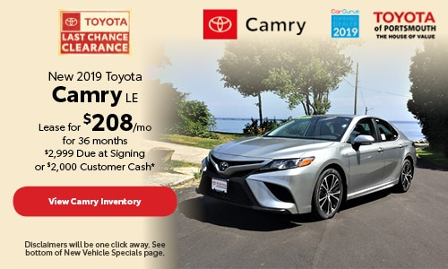 September New 2019 Toyota Camry LE