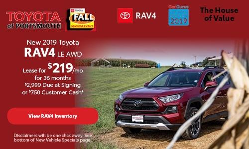 October New 2019 Toyota RAV4 Offer