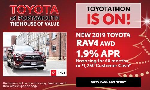 December New Toyota RAV4 Offer