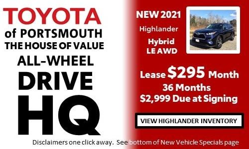 January AWD HQ Toyota Highlander Offer