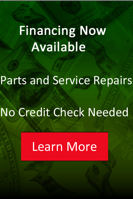 financing available on parts and service